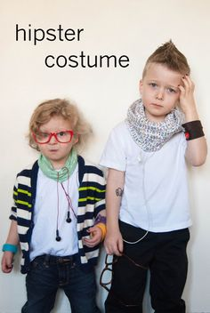 Hipster costume idea bahaha they're so cute...I may steal this idea though...