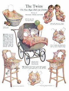 Victorian baby scraps/ paper dolls!
