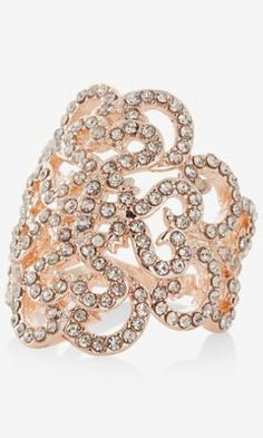 pave filigree scroll ring from EXPRESS