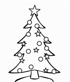 new post blank christmas tree coloring sheets - Coloring Christmas Trees