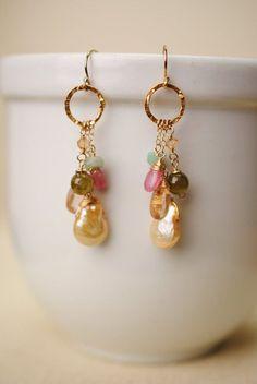 Infinity Dangle Cluster Drop Earrings