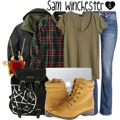 """Sam Winchester -- Supernatural"" by evil-laugh on Polyvore"