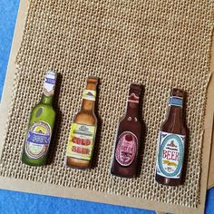 Burlap and Beer  Manly Blank Greeting Card  Recycled by plarnstar