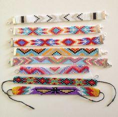 MDC Bracelet brésilien en perles tissées sur mesure style indien : Bracelet par littlenavajo