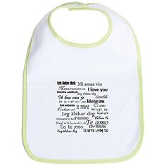 CafePress  International I Love You Bib  Cute Cloth Baby Bib Toddler Bib * You can get more details by clicking on the image.