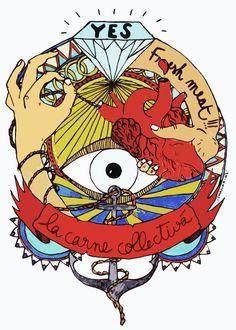 carne colectiva, tatuajes artísticos  http://lamonomagazine.com/carne-colectiva-tatuajes-artisticos/