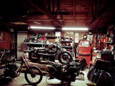 cave garage workshop shed