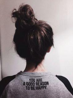 Her neck looks a bit skinny for her head. Also you always have to keep your hair in a high pony for this shirt.