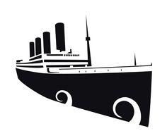 XOO Plate :: Titanic Silhouette Vector Illustration - Titanic 100th anniversary silhouette vector illustration. AI, EPS and CDR formats.