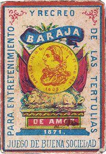 Baraja de Amor, Hijos de Taboadela, Malaga, Spain 1871