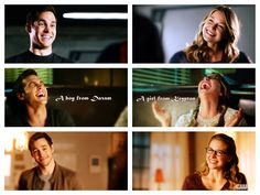Kara and Mon-El smiling at/laughing with one another is MY kryptonite (lead?). They're hilarious when they're arguing, awesome when they're working together, but the joy and chemistry they have together...it kills me in the best way possible <3. A boy from Daxam, and a girl from Krypton. Who would've thought, indeed ;D