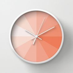 Coral Pantone Clock | dotandbo.com
