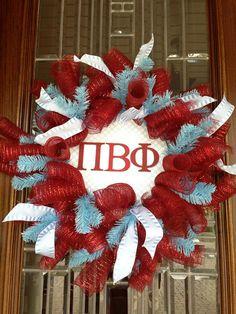 Pi Phi wreathe craft! #piphi #pibetaphi
