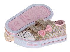SKECHERS KIDS Shuffles - Sweet Step Lights 10284N (Toddler/Little Kid) Gold/Pink - Zappos.com Free Shipping BOTH Ways