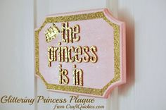 Make a glittering princess plaque for your little princess' bedroom using glitter supplies from American Crafts. Disney Princess Babies, Disney Princess Party, Princess Room, Little Princess, Glitter Room, Glitter Projects, Crafts For Girls, Little Girl Rooms, American Crafts