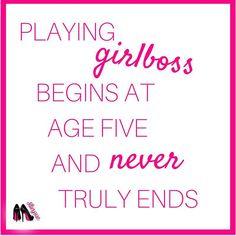 Playing girlboss sta