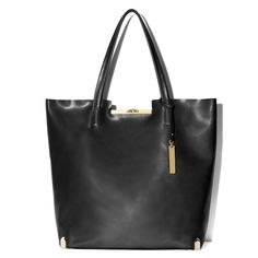 Black tote with gold hardware