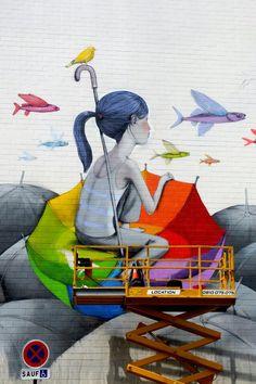 Seth (julien malland) - work in progress - street art - Paris 13 - rue Emile Deslandres