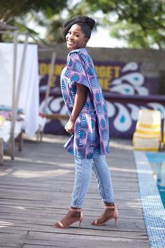 African Tops For Women, Ankara Skirt, Print Fabrics, African Inspired Fashion, African Dress, Wax, Kimono Top, Cotton Fabric, Tunic Tops
