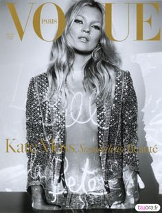 French Vogue Cover December 2005 -January 2006 Kate Moss