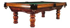 The Heston (shown Maple with Ziba finish)  The Heston features a double arched frame with hand turned round legs. This style and design was fashioned and inspired after pool tables found in English Pubs and Breweries. Family and friends will gather around this fun and entertaining recreation room favorite.  The Heston is featured in Western Maple or Northern Red Oak. All Golden West furniture finishes available.