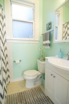 Super cute bathroom.  Molly's Coloring Book Modern Apartment House Tour | Apartment Therapy