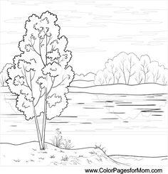 Landscape Coloring Pages 26