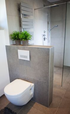 Unser Haus WC behind the brickwork Water Bed : The Benefits Of A Water Bed A Water Bed Can Prove Ben Studio Apartment Layout, Studio Apartment Decorating, Bathroom Toilets, Small Bathroom, Tiny Bathrooms, Attic Bathroom, Attic Closet, Water Bed, Downstairs Toilet