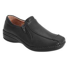 Boulevard Damen Schuhe / Freizeitschuhe mit Reißverschluss (41 EUR/8 UK) (Schwarz) - Slipper und mokassins für frauen (*Partner-Link) Black Loafers, Loafers Men, Boulevard, Partner, Casual Shoes, Oxford Shoes, Dress Shoes, Slip On, Best Deals