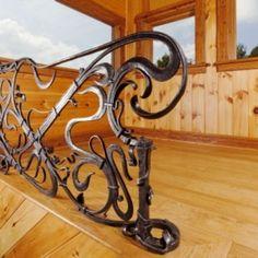 Custom Made Art Nouveau Rail