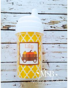 Personalized Pumpkin Spill Proof Sippy Cup - Fall