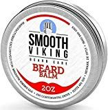 Beard Balm with Leave-in Conditioner- Styles, Strengthens & Thickens for Healthier Beard Growth, while Argan Oil and Wax Boost Shine and Maintain Hold- 2 oz Smooth Viking - New Beard Look Diy Beard Oil, Beard Oil And Balm, Beard Balm, Best Beard Wash, Best Beard Oil, Leave In, Argan Oil And Shea Butter, Conditioner For Men, Hair Growth