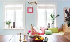 Farge: Valmuesøster Where The Heart Is, Ikea, Living Room, Apartment Ideas, Pastels, Interior, House, Colorful, Google