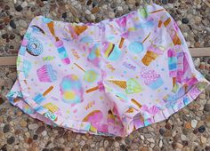 Shorts handmade girls pleated hem shorts summer clothing holiday vacation play by Sophiaandraspberry on Etsy https://www.etsy.com/uk/listing/527528285/shorts-handmade-girls-pleated-hem-shorts