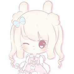 full image at my twitter acc  ▷▷▷ twitter.com/pichi_puff #miyukipluffs #kawaii #pink #OC #referencesheet #pastel #cream #bunny #bunnies #fluffy #soft #art #digitalart #doodle #illustration #cute #cutie #magicalgirl #sweet #ribbon #animals #plushies