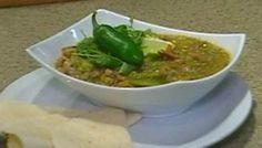 Z'Tejas Green Chile Pork Verde~~ngredients:  3 lbs. pork butt, trimmed and cut in 1 in. chunks  3 1/2 oz. jalapenos peppers   1 1/2 lb. tomatillos   1 oz. garlic cloves   8 bay leaves  1/2 lb. white onion chopped  1/2 cup corn oil  3/4 oz. cilantro chopped   1 1/2 Tbs. black pepper  1/4 Tbs. kosher salt      Instructions:    In a braizing pan add the corn oil and heat till it almost smokes. Add pork and brown it stiring occasionaly for approx 15 minutes.  While you are doing step 1 start the…