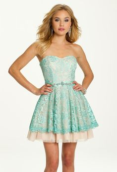 Two-Tone Lace & Tulle Prom Dress #camillelavie #CLVprom