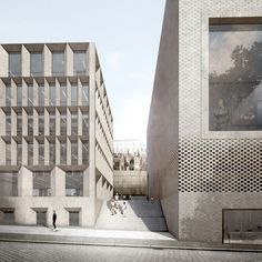 Staab Architekten Unveils Planning Designs for Cologne Historic Center is part of Facade architecture - Staab Architekten has released its plans for the historic center of Cologne, which will include the research and administration buildings for the Collage Architecture, Brick Architecture, Architecture Visualization, Urban Architecture, Architecture Drawings, Architecture Graphics, School Architecture, Contemporary Architecture, Building Facade