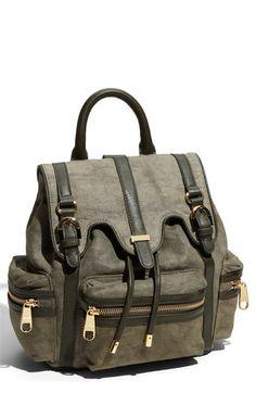 Badgley Mischka - canvas backpack