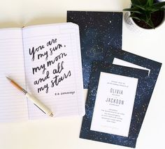 Starry Night Wedding Invitations perfect for a wedding under the stars
