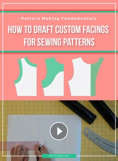 How to draft a facing for sewing patterns (VIDEO)