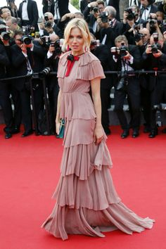 """Sienna Miller in a custom made Gucci gown attends the Premiere of """"Macbeth"""" during the 68th annual Cannes Film Festival on May 23, 2015 #Cannes2015"""