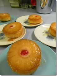 individual pineapple upside down cakes made in tuna cans... now that's cool...