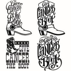 Give Cancer The Boot Cuttable Designs Silhouette Cameo Projects, Silhouette Design, Silhouette Vinyl, Silhouette Machine, Silhouette Files, Silhouette Studio, Apex Embroidery, Embroidery Designs, Applique Designs