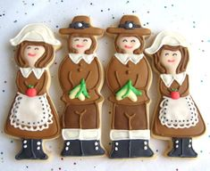 Pilgrims, who wold put that kind of time in to a cookie?  Time better spent in a soup kitchen.