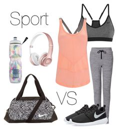 """""""Work out"""" by vikiseres ❤ liked on Polyvore featuring rag & bone, NIKE, Sweaty Betty and Victoria's Secret"""