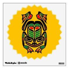 native_haida_art_frog_black_on_yellow_walldecal-r1f8213f197a64942a3bd06fe7aaf3c5f_8ve9h_8byvr_324.jpg (324×324)