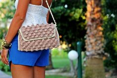 #MMissoni | ANTIQUE ROSE FAUX #RAFFIA BAG | FW 2014-15 Collection | #MustHave | #SoCool | Fashion Hippie Loves