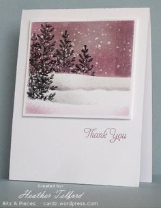 Lovely as a Tree winter card-Stamps: Lovely as a Tree, Taglines (Flourishes)   Inks:   Basic Black, Perfect Plum, Going Gray   Cardstock:   Flourishes Classic White   Also: Stampin' Dimensionals, White acrylic paint