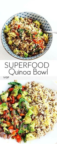 Superfood Quinoa Bowl is quick and easy perfect dinner or lunch packed full of healthy superfoods! Vegan Gluten Free